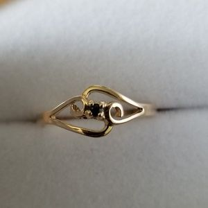 Jewelry - 14k Solid Yellow Gold Sapphire Ring Size 6